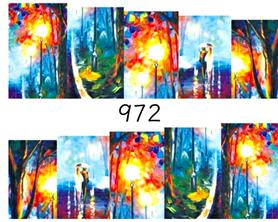 Naklejki wodne na paznokcie - 972