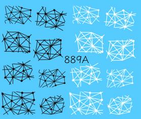 Naklejki wodne na paznokcie - 889A