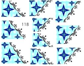 Naklejki wodne na paznokcie - 118