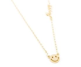 Naszyjnik krótki celebrytka - Uśmiech z napisem Happy