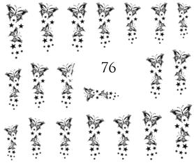 Naklejki wodne na paznokcie - 76