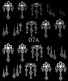 SREBRNE- Naklejki wodne na paznokcie - 07A