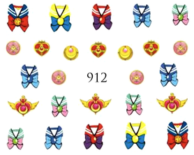 Naklejki wodne na paznokcie - 912