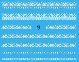 Naklejki wodne na paznokcie - 9