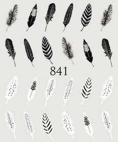 Naklejki wodne na paznokcie - 841