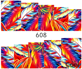 Naklejki wodne na paznokcie - 608