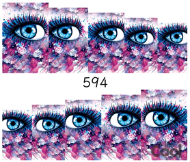 Naklejki wodne na paznokcie - 594