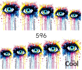 Naklejki wodne na paznokcie - 596