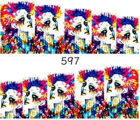 Naklejki wodne na paznokcie - 597