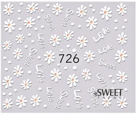Naklejki wodne na paznokcie - 726