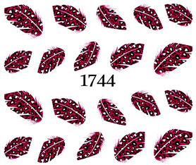 Naklejki wodne na paznokcie - 1744