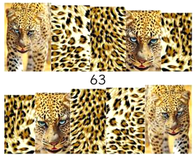 Naklejki wodne na paznokcie - 63