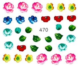 Naklejki wodne na paznokcie - 470