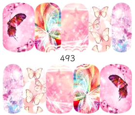 Naklejki wodne na paznokcie - 493