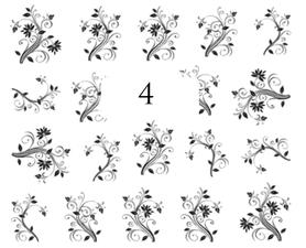 Naklejki wodne na paznokcie - 4