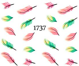 Naklejki wodne na paznokcie - 1737