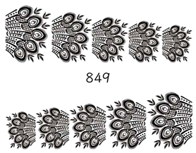Naklejki wodne na paznokcie - 849