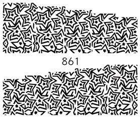 Naklejki wodne na paznokcie - 861
