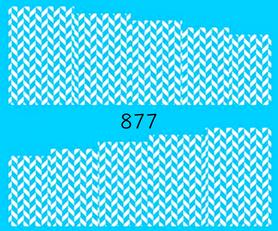 Naklejki wodne na paznokcie - 877