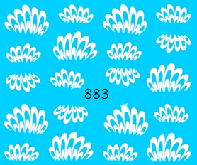 Naklejki wodne na paznokcie - 883