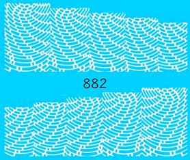 Naklejki wodne na paznokcie - 882