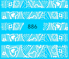 Naklejki wodne na paznokcie - 886