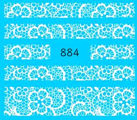 Naklejki wodne na paznokcie - 884