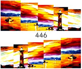 Naklejki wodne na paznokcie - 446