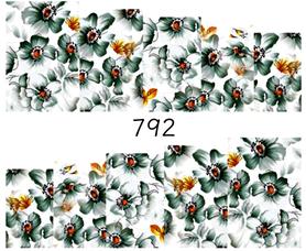 Naklejki wodne na paznokcie - 792