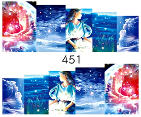 Naklejki wodne na paznokcie - 451