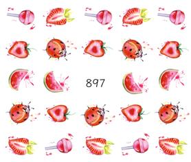 Naklejki wodne na paznokcie - 897