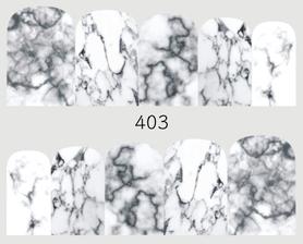 Naklejki wodne na paznokcie - 403 marmurkowe