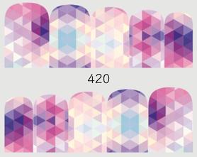 Naklejki wodne na paznokcie - 420