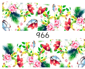 Naklejki wodne na paznokcie - 966