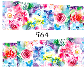 Naklejki wodne na paznokcie - 964