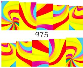 Naklejki wodne na paznokcie - 975