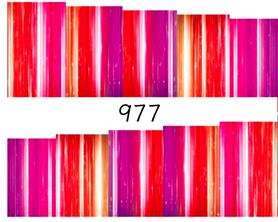 Naklejki wodne na paznokcie - 977