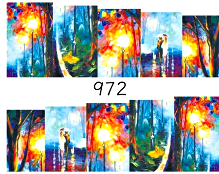 Naklejki wodne na paznokcie - 972 (1)