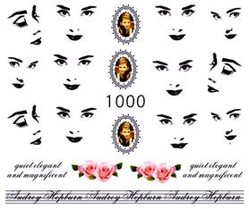 Naklejki wodne na paznokcie - 1000