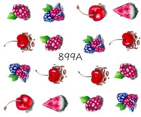 Naklejki wodne na paznokcie - 899A
