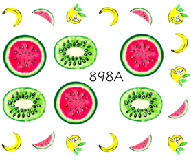 Naklejki wodne na paznokcie - 898A