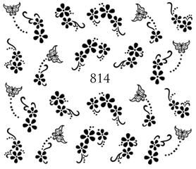 Naklejki wodne na paznokcie - 814