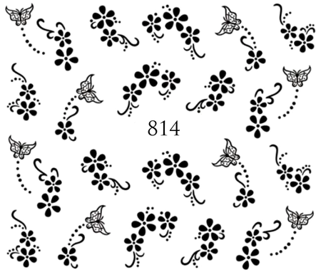 Naklejki wodne na paznokcie - 814 (1)