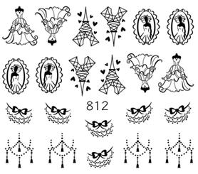 Naklejki wodne na paznokcie - 812