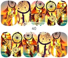 Naklejki wodne na paznokcie - 40