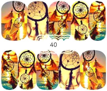 Naklejki wodne na paznokcie - 40 (1)