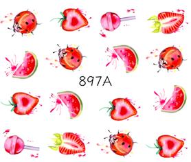 Naklejki wodne na paznokcie - 897A