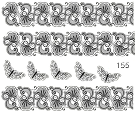 Naklejki wodne na paznokcie - 155