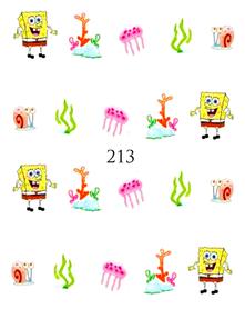 Naklejki wodne na paznokcie - 213