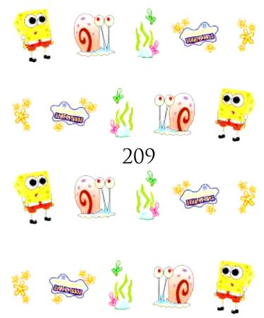 Naklejki wodne na paznokcie - 209 (1)